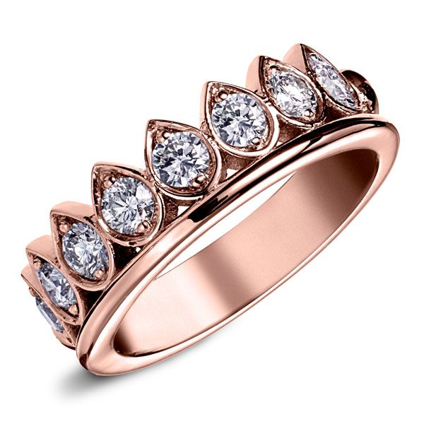Bague luxe rose