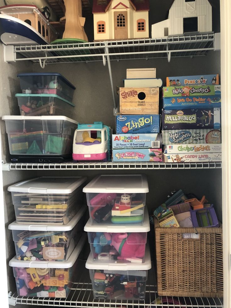 Create A Toy Closet to Organize Your Toys images