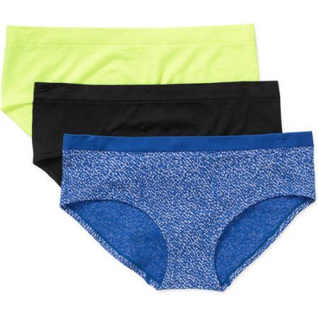 548f730b2f6c No Boundaries Junior Seamless Hipster Panty - 3 Pack, Size: S/5, Assorted