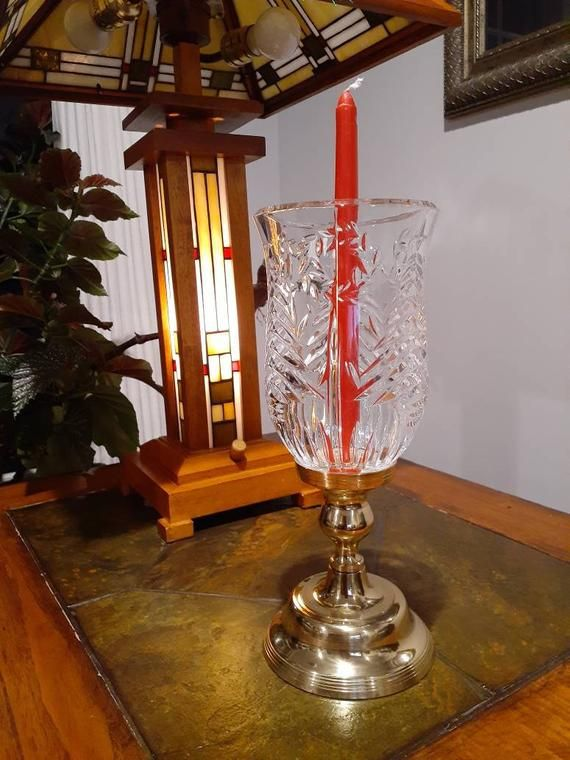 floating candle lamp brass art ware cathedral candle holder made in India house warming table candle stick holder shelf entryway display