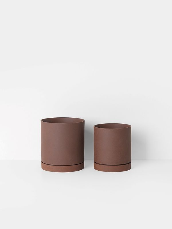 Formschone Keramik Blumentopf Ceramics Deko Minimalismus Leuchtendgrau Blumentopf Minimalismus Keramik