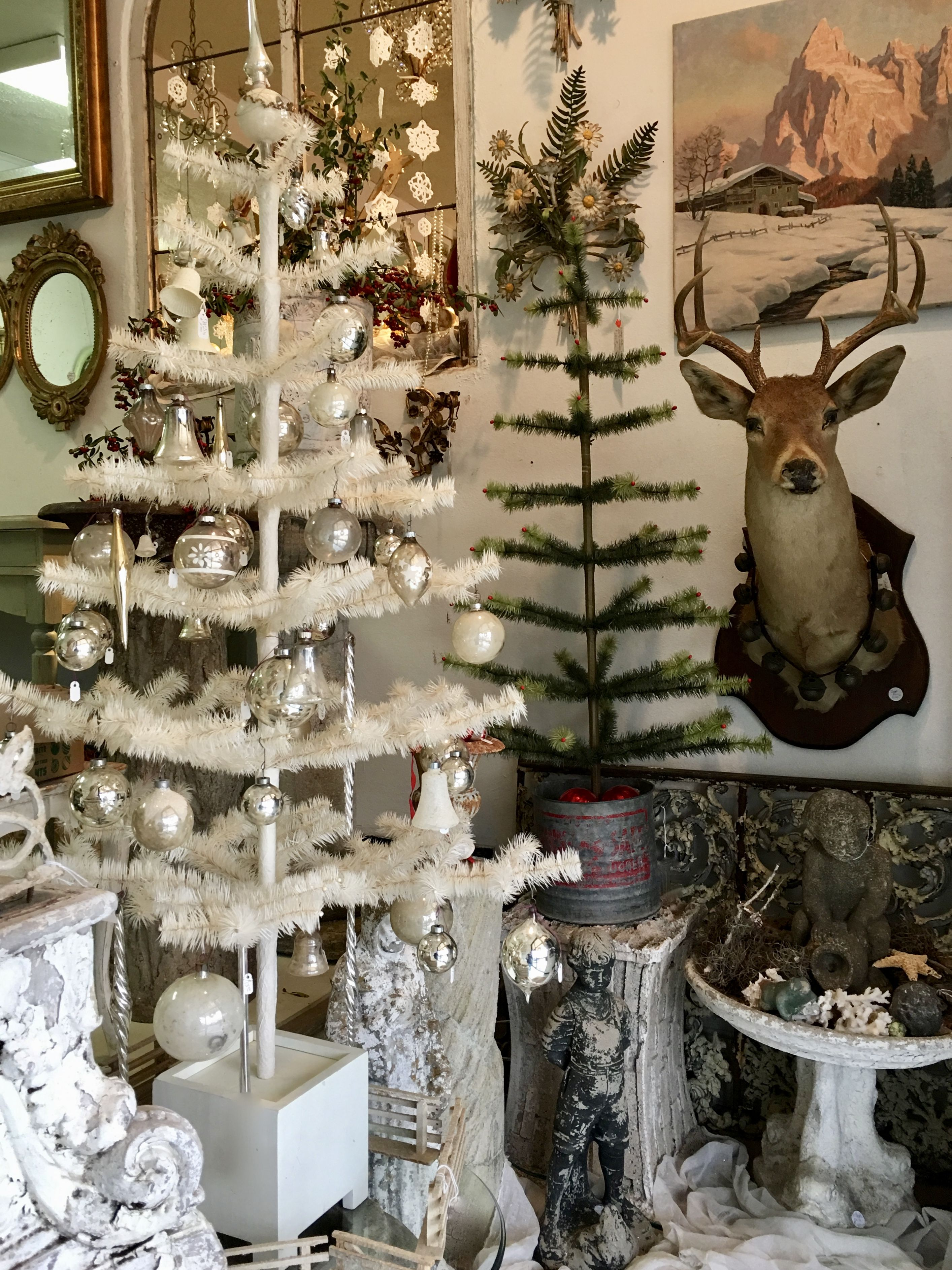 """White Christmas Tree 54"""" Tall $250 Country Garden Antiques ..."""