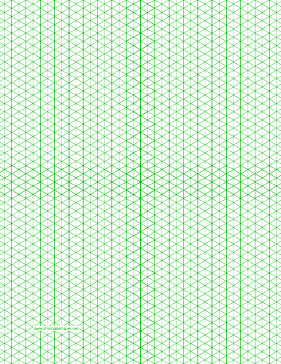 This Letter Sized Isometric Graph Paper Has Quarter Inch Figures  (triangles).