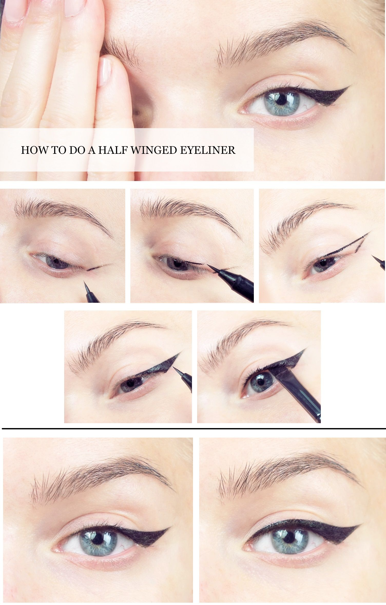 Pictorialhow To Do A Half Winged Eyeliner Makeup Pinterest