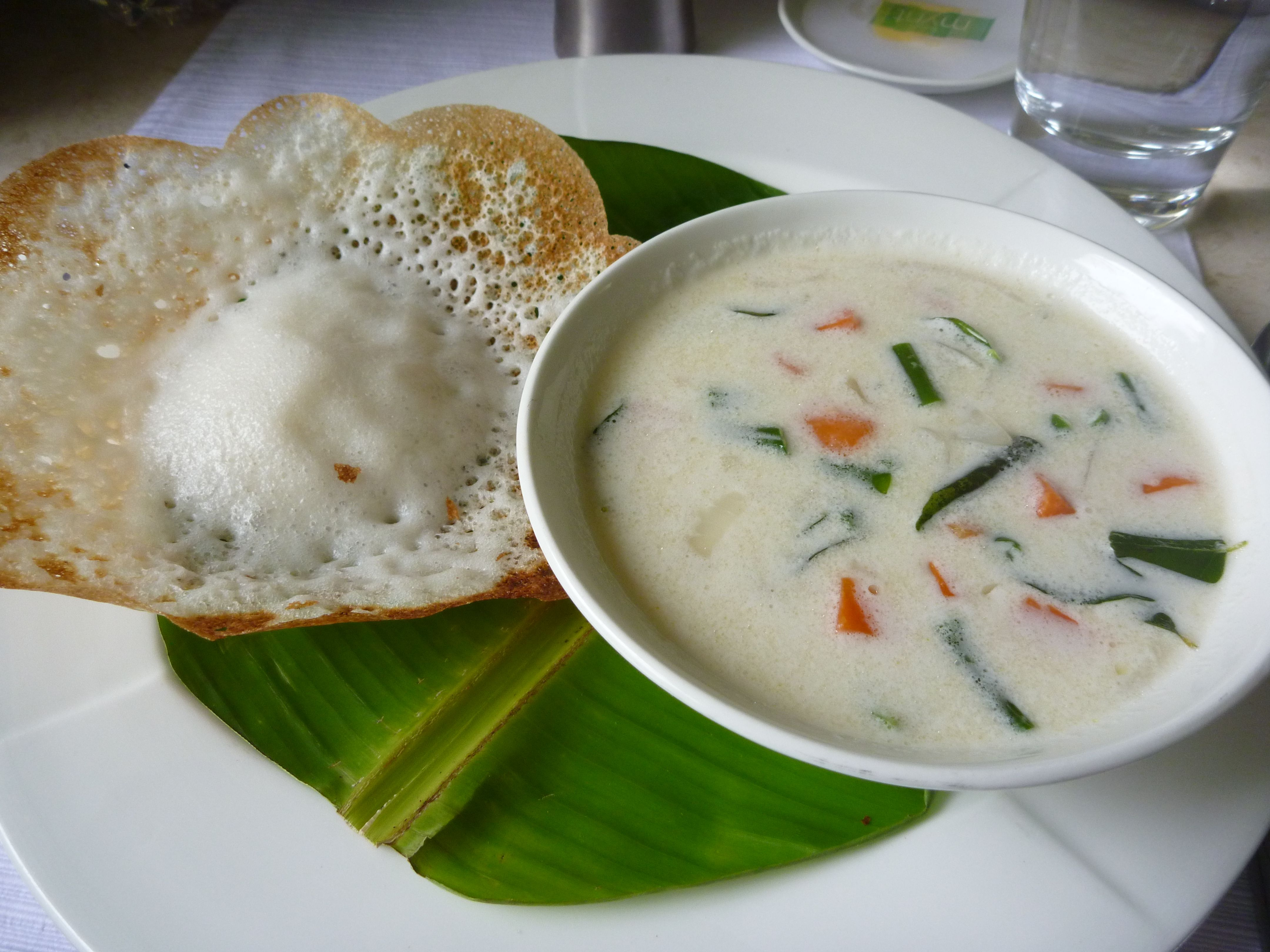 Appam and stew...YUM!!!! | Food, Tasty dishes, Coconut curry