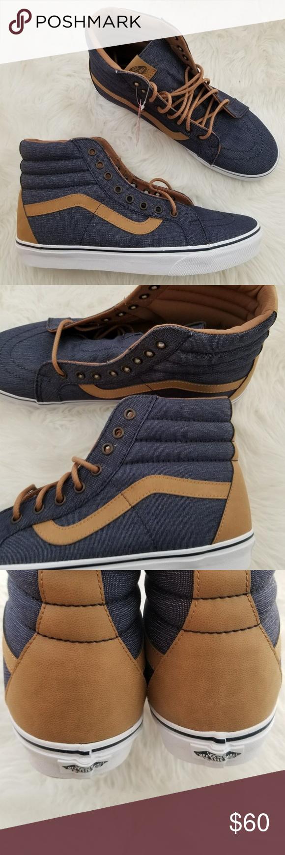 Vans SK8-Hi Reissue Denim Navy Blue M 11 NIB Brand new in box. Vans Sk8-Hi  Reissue Denim C L Navy Blue Shoes. Men s Size 11. Box may have some damage. 180968513