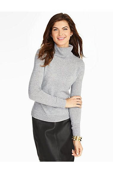 Talbots - Cashmere Turtleneck | |  love this with ocelot skirt!