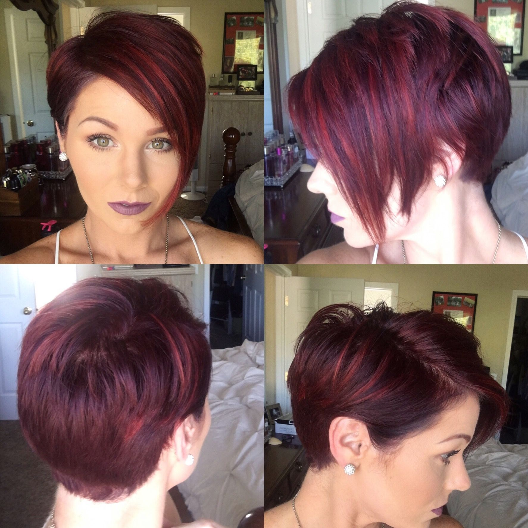 Red pixie with highlights shorthair redhair pixie haie