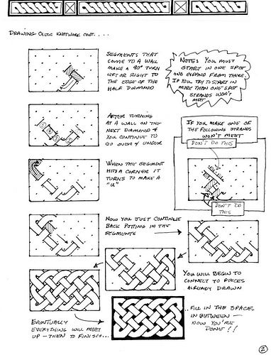 how to draw celtic knots using graph paper