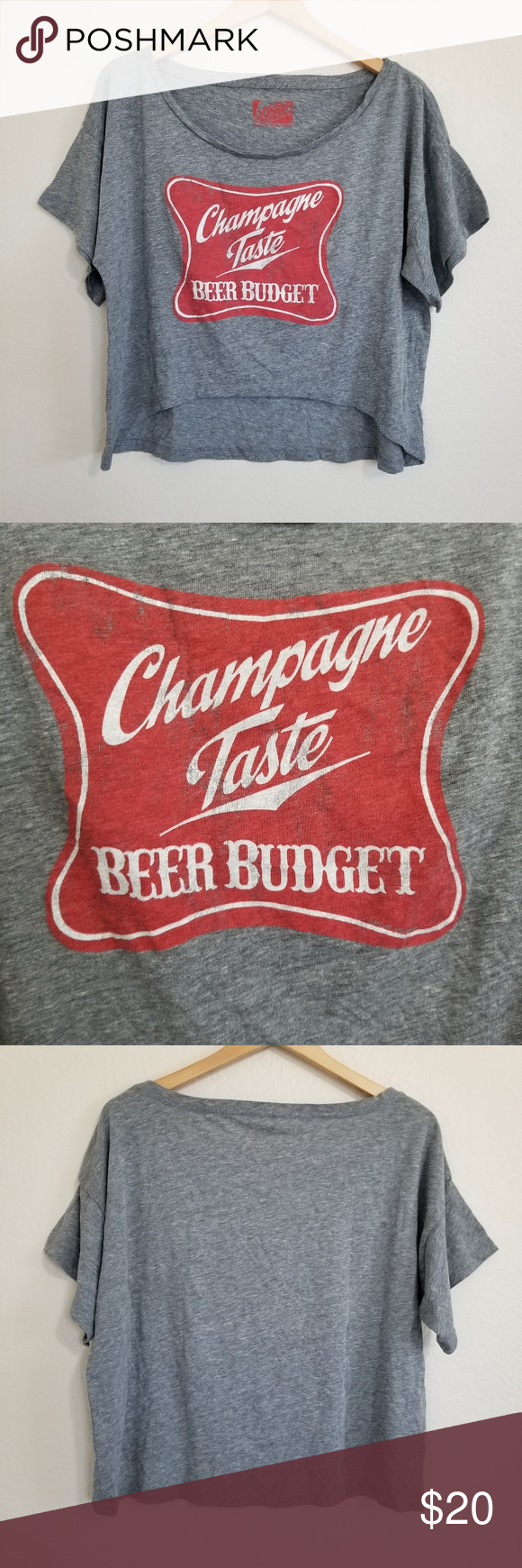 NWT Local Celebrity Champagne Graphic T Shirt Oversized style.  Size: S Length: …