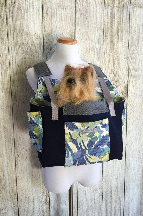 Dog Carrier-Blue Dog Carrier Medium Pet by HIPPYHOUNDDesigns ...