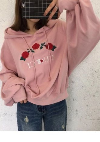 cc74f58e085 jacket girly pink hoodie sweater tumblr embroidered gucci champion hoodie  trendy