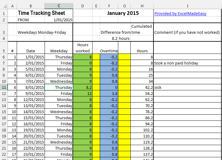 employee overtime tracking spreadsheet business templates