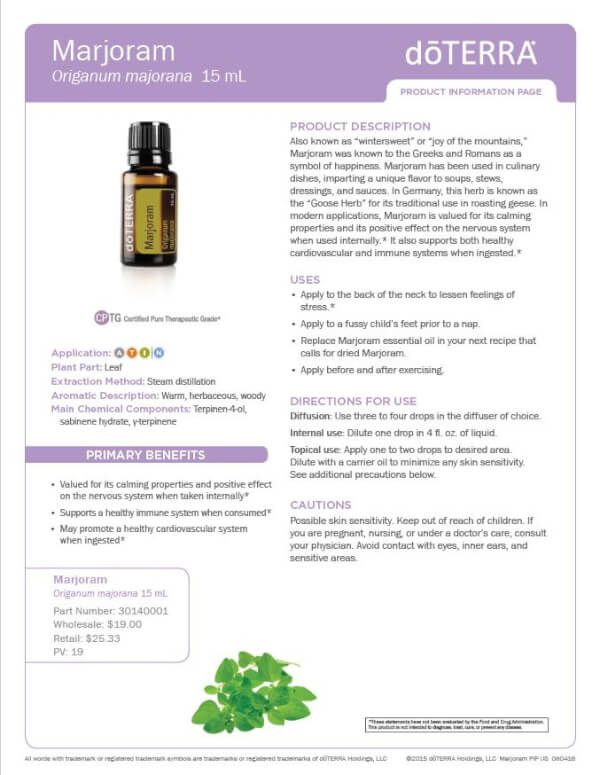 Doterra marjoram essential oil uses and food recipes marjoram doterra marjoram essential oil uses and food recipes forumfinder Gallery