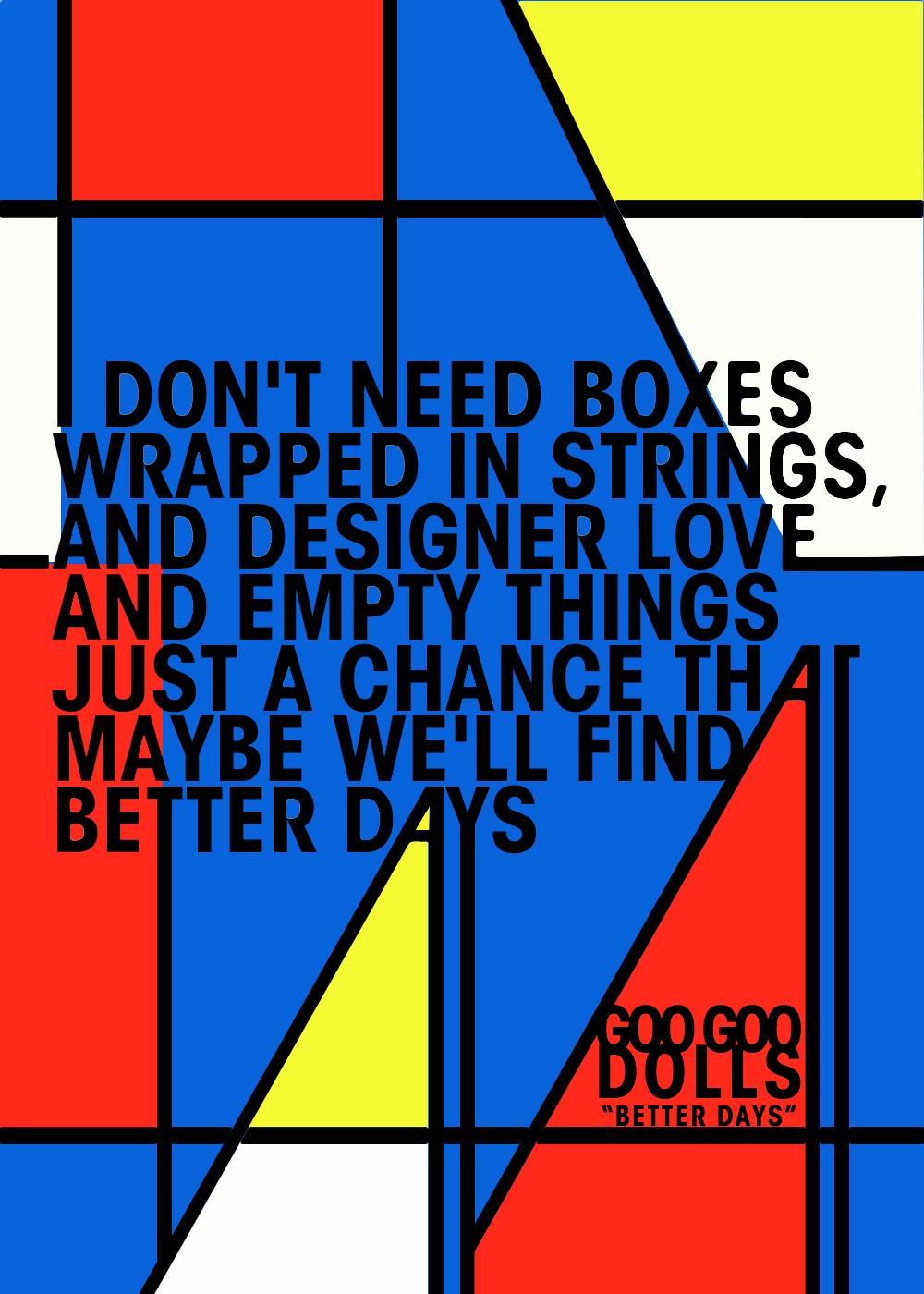 """Better days"" - Goo Goo Dolls #lyrics #music #betterdays #googoodolls   Goo goo dolls, Music ..."
