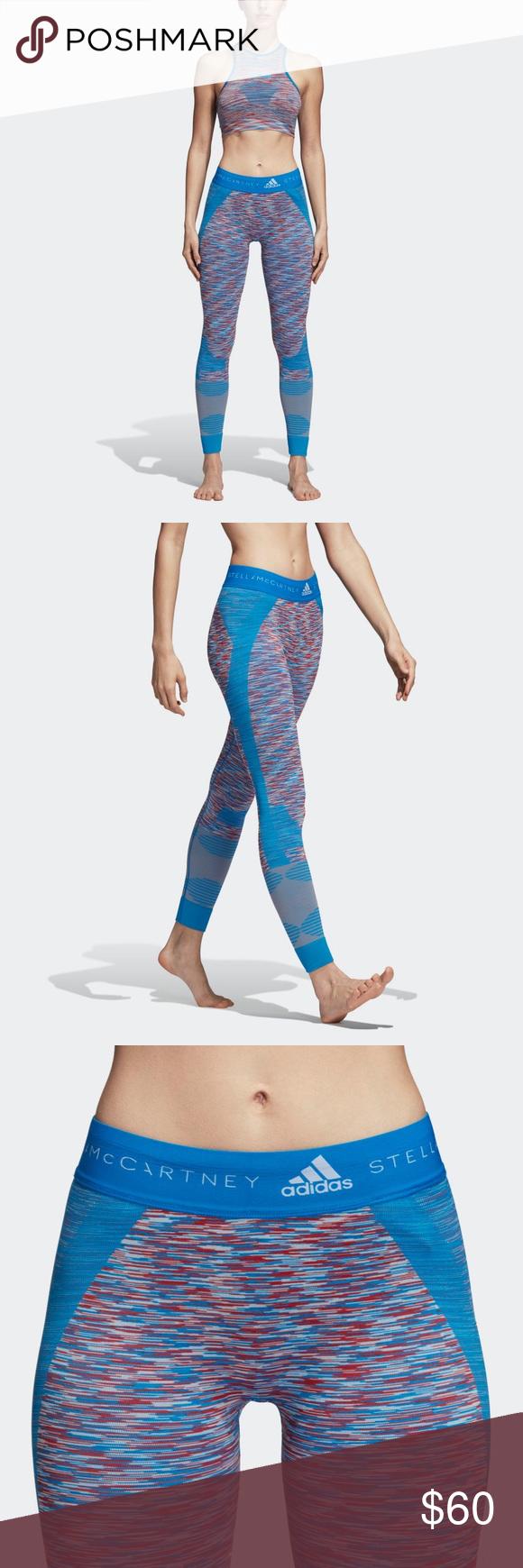 b5701ab2a9 Adidas Stella McCartney Tights Sz M NWT Adidas Women's Stella McCartney  Yoga Tights Seamless Space Dye