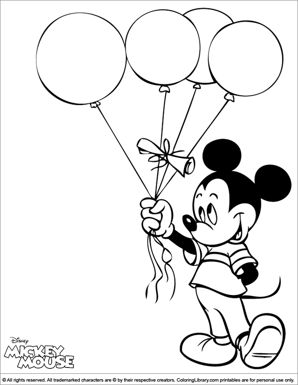 Mickey Mouse coloring page Mickey