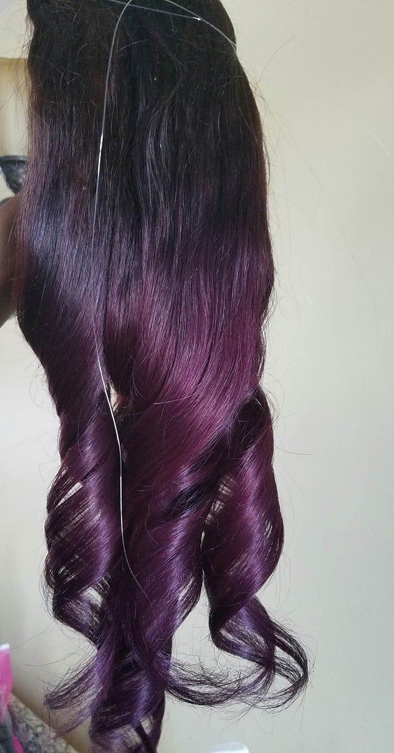 100g   1 Piece UnitDouble Drawn Remy Human Hair Halo / Flip in Extension / fish wire extensionOR Single unit Extension with 4 wig Clips Hair color is Dark Brown at the top and Purple at the bottomMessage me and let me know whether you want a flip in halo or a single unit clip in with 4 wig clips.