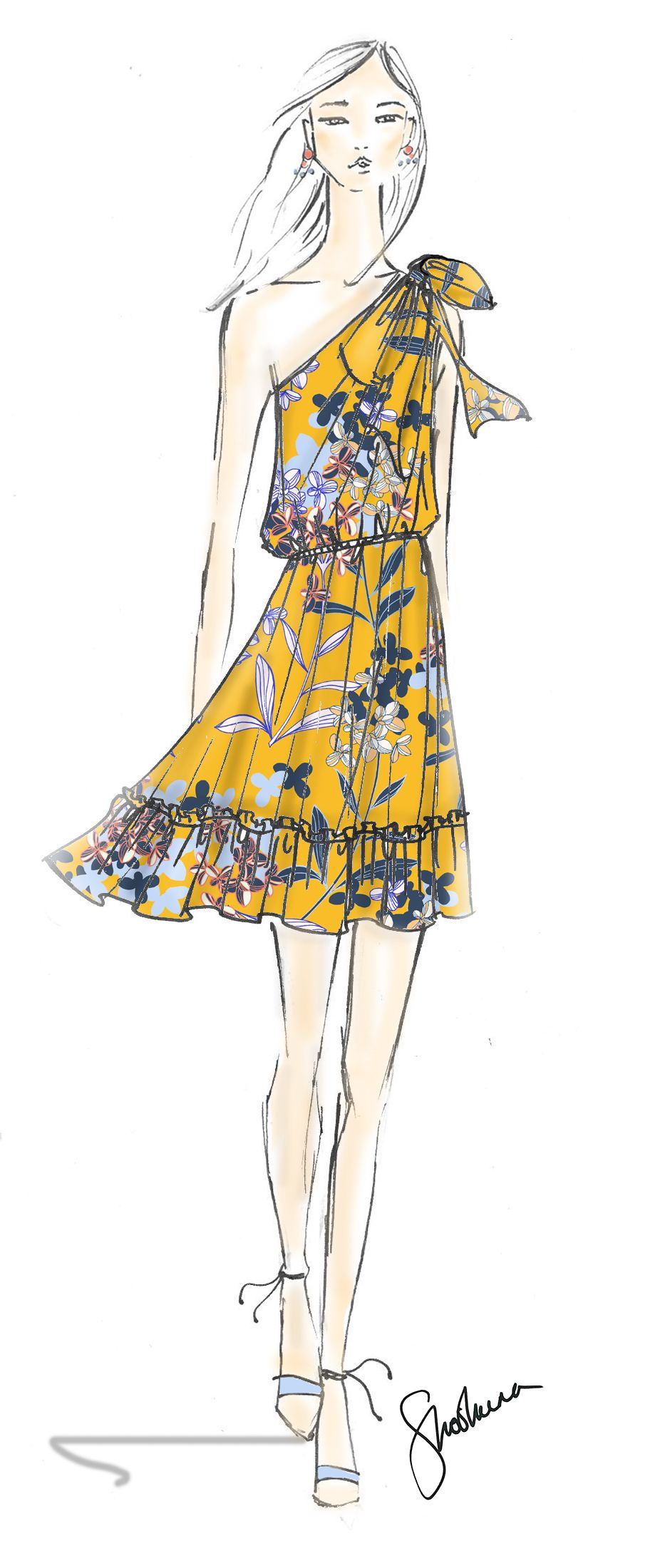 2018 Cocktail Dress Sketches