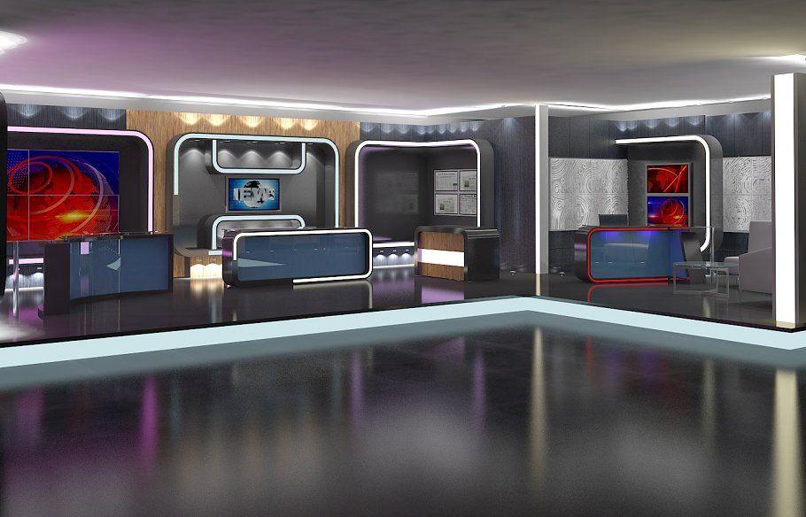 Virtual TV Studio News Set 16 by akerdesign on @omairsart #VIRTUAL