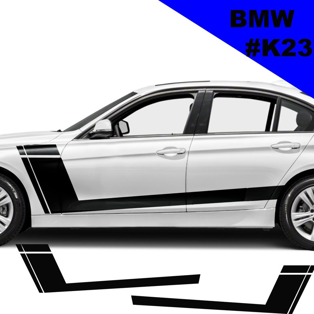 Sports Side Car Stripes Decal Car Graphics Car Stickers For Bmw