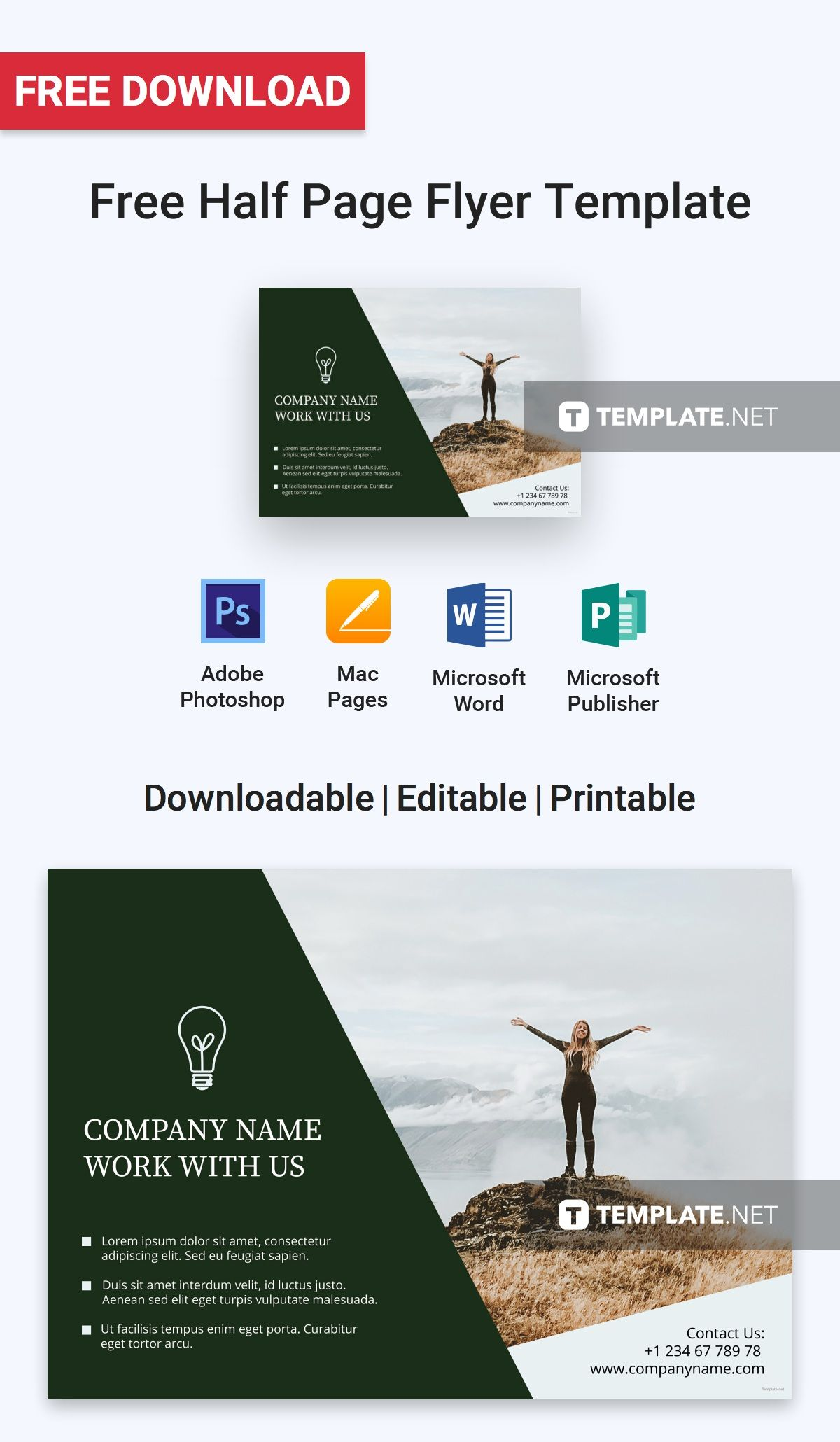 free half page flyer flyer templates designs 2019 pinterest