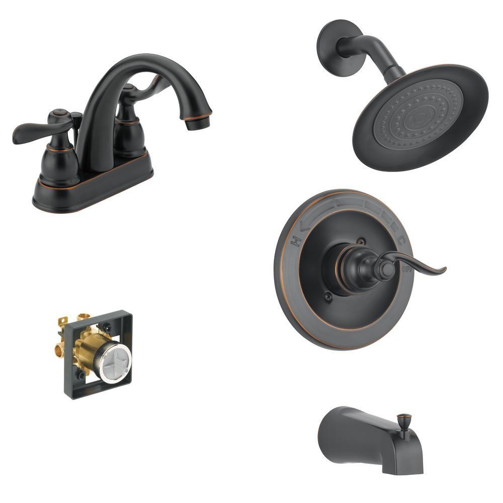 Delta Windemere 4 In Centerset 2 Handle Bathroom Faucet Bundle