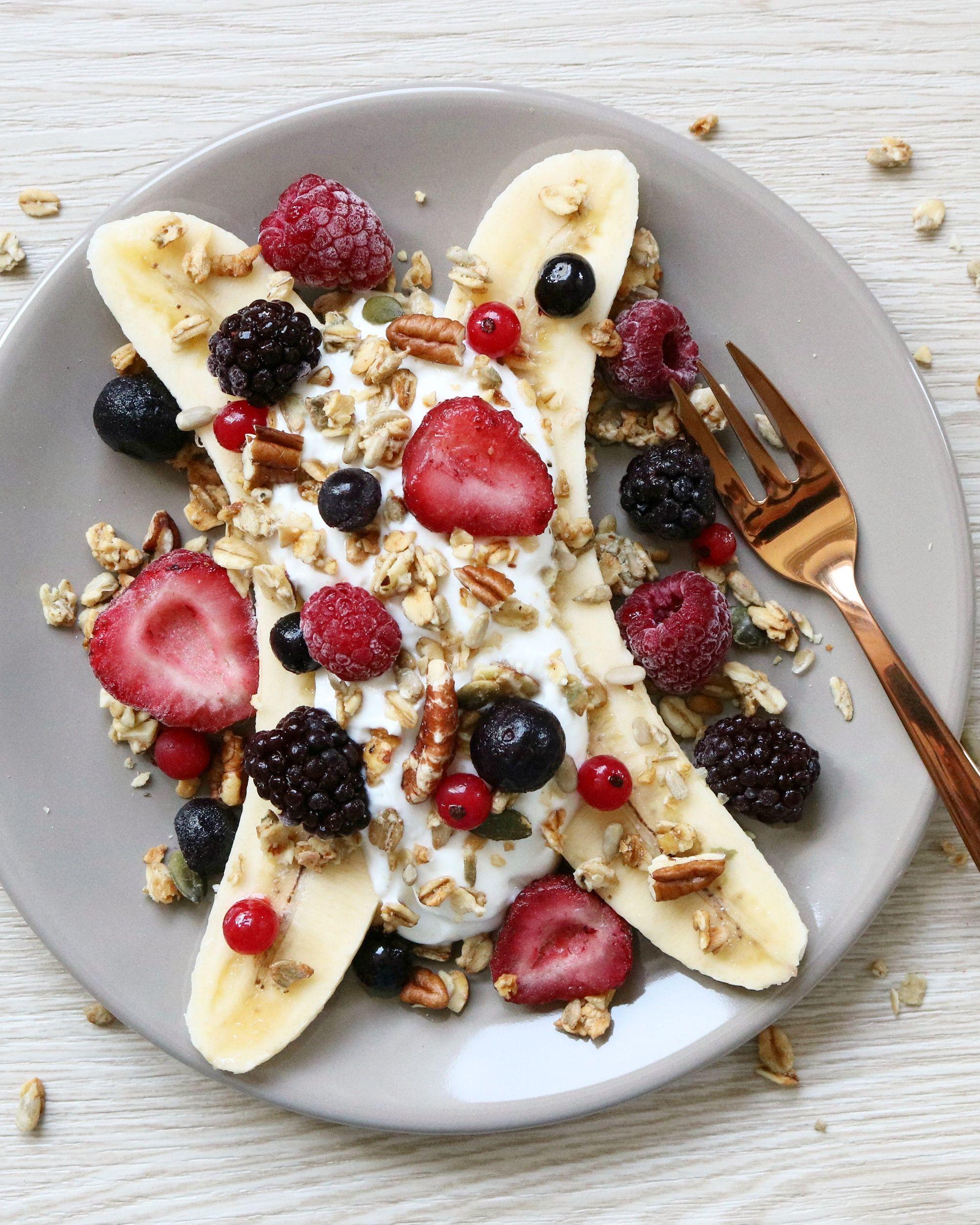 HEALTHY BANANEN SPLIT - #healthyfood