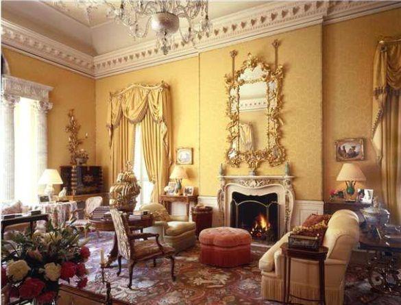 Charlottesville VA House  Grand Edwardian Living Room