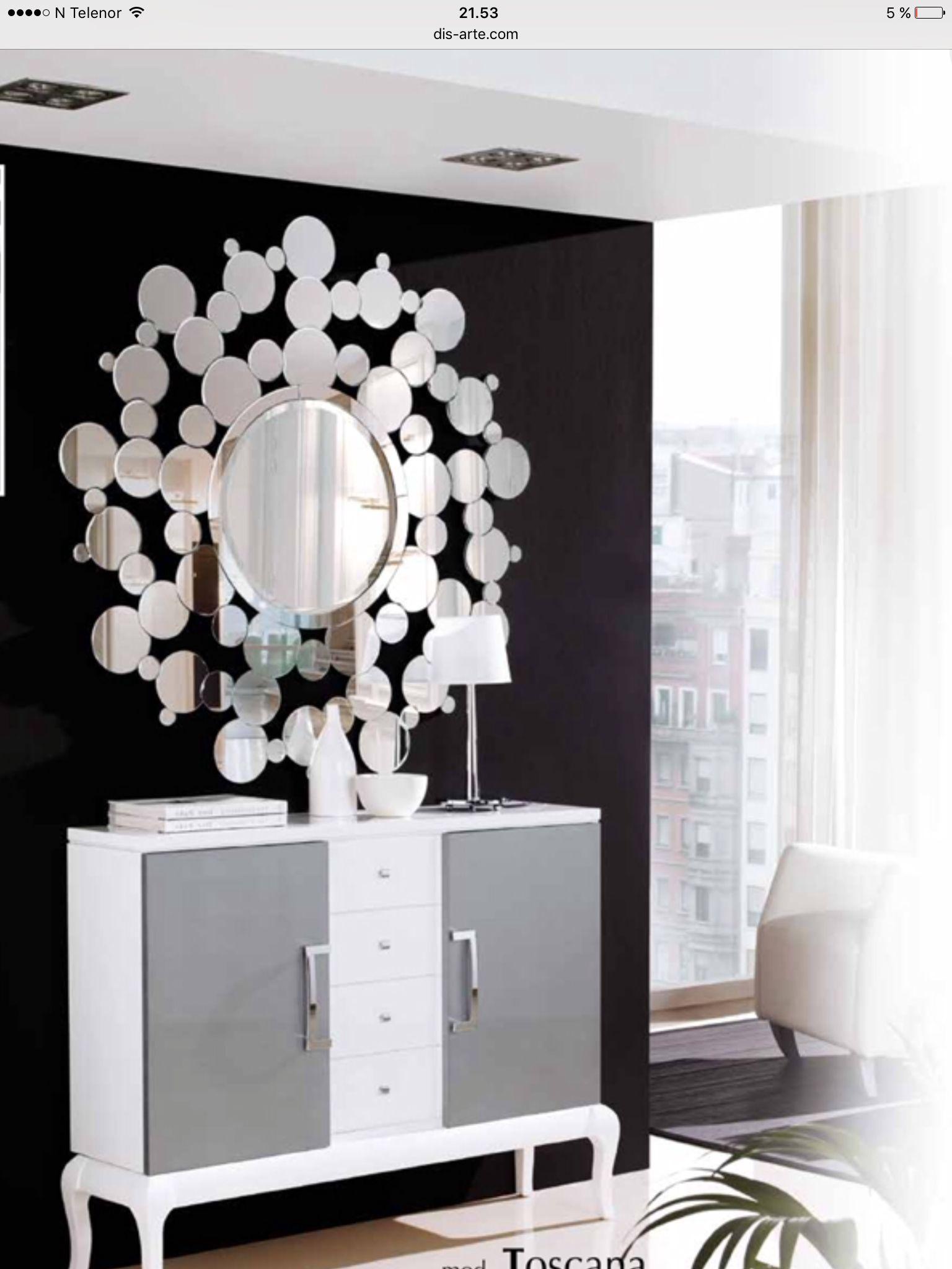 Speil modell BERGEN. www.mirame.no #speil #stue #soverom #gang ...