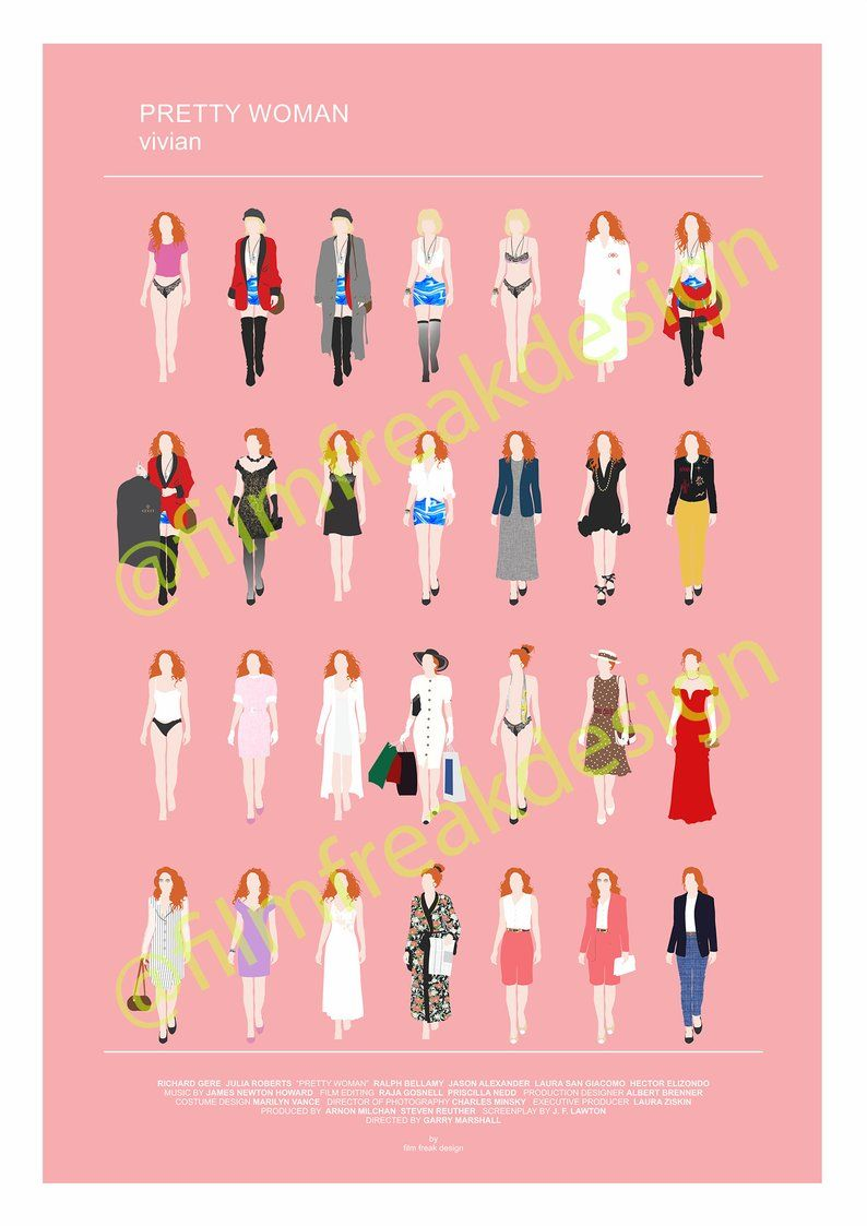 5d2d605ddecc1 Pretty Woman Movie Poster Julia Roberts and all her looks, fashion ...