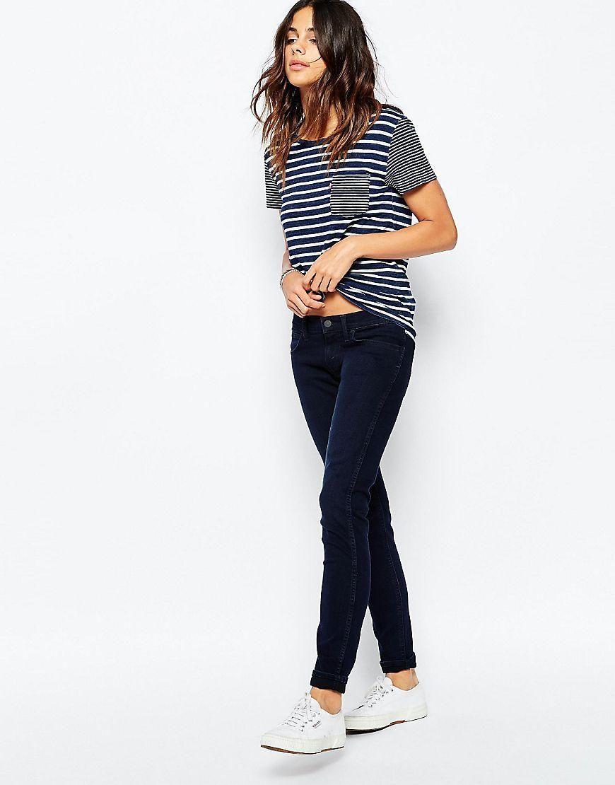 Levis | Levi's Perfect Pocket Stripe T-Shirt at ASOS