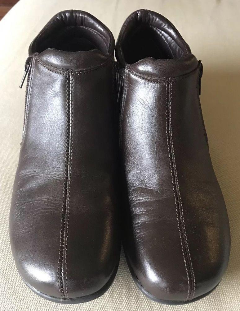 Walking Cradles - Zeno Bootie - Womens Size 9S - Brown Nappa - Side Zippers    d4186a341