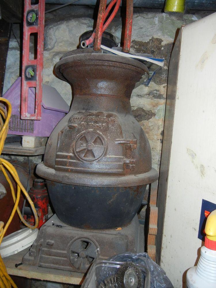 Antique Sears Roebuck Co No 119 59 Cast Iron Pot Belly Stove Vintage Coal