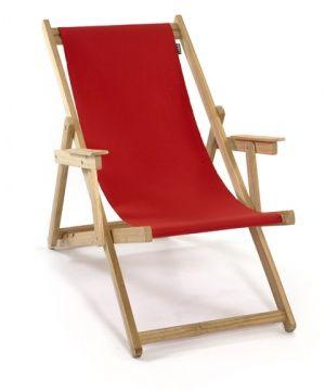 Liegestuhl Rot Strandstuhl Holz Backstage Strandstuhl Holz