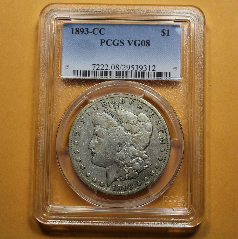 1893 CC Silver Dollar PCGS VG8 CARSON CITY (39312