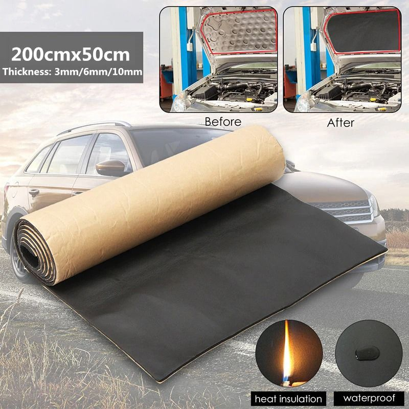 1roll 200cmx50cm 3mm 30mm Car Sound Proof Deadening Upgarded Car Truck Anti Noise Sound Insulation Cotton Heat In 2020 Sound Insulation Sound Proofing Closed Cell Foam
