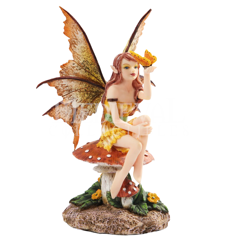 Seated Golden Butterfly Faery Statue Fairy Statues Amy Brown Fairies Fairy Figurines