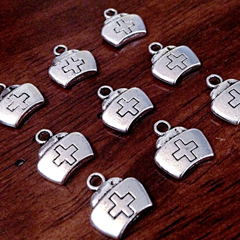 Bulk 25 Nurse Charms Antique Silver Charms Medical Charms Etsy Antique Silver Silver Charms Jewelry Supplies