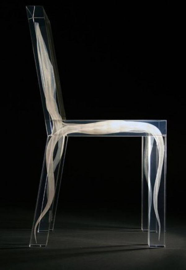 Light Organic Furniture Piece Bare Bones Ghost Chair A Clear