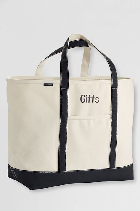 e2e98a2b61a School Uniform Extra Large Natural Open Top Canvas Tote Bag from Lands' End
