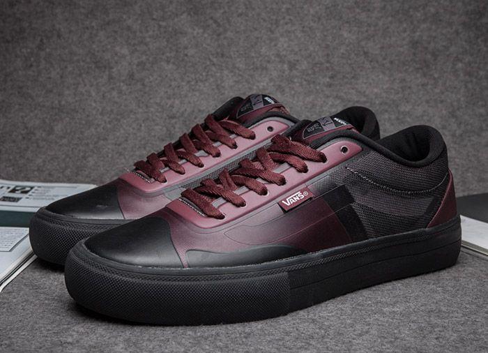 65cd9a3502 Vans AV Rapidweld Pro Lite Leather Red Black Skate Shoes  Vans ...