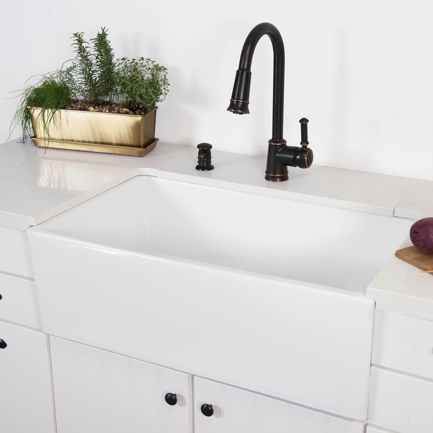 Surrey 30 Fireclay Farmhouse Kitchen Sink Farmhouse Sink Kitchen White Farmhouse Sink White Farmhouse Kitchens