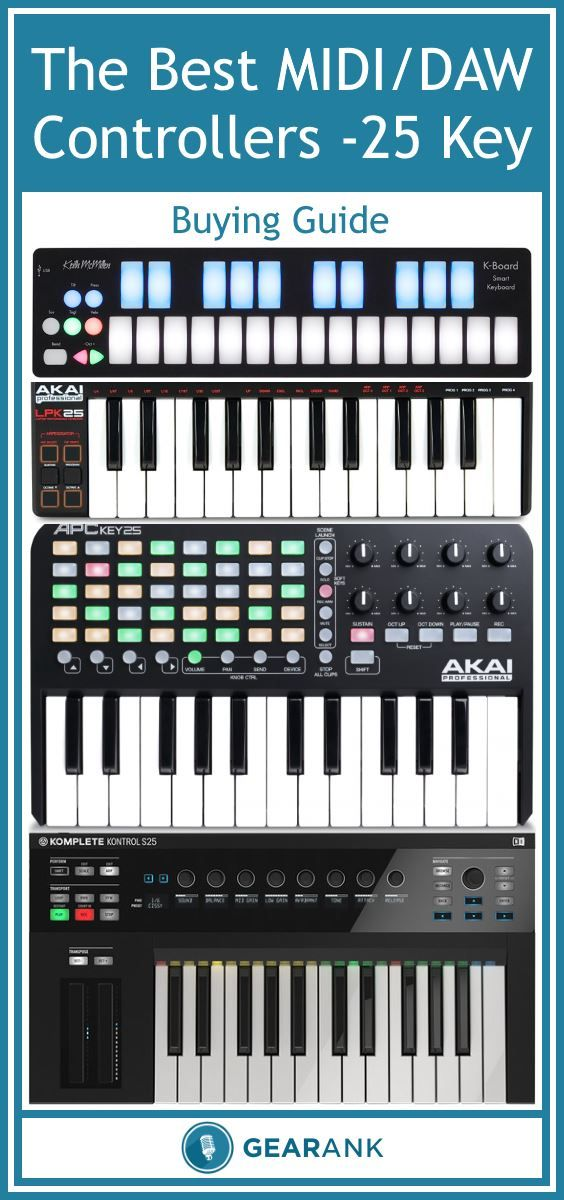 Best Keyboard Music Workstations : detailed guide to the best 25 key midi controller daw controller keyboards includes a ~ Vivirlamusica.com Haus und Dekorationen