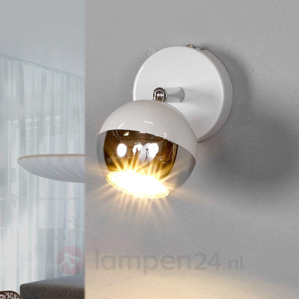 Witte GU10 spot Arvin met LED lamp (met afbeeldingen