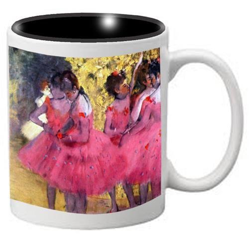 Nutcracker Ballet Mug Degas Dancers in Pink with black