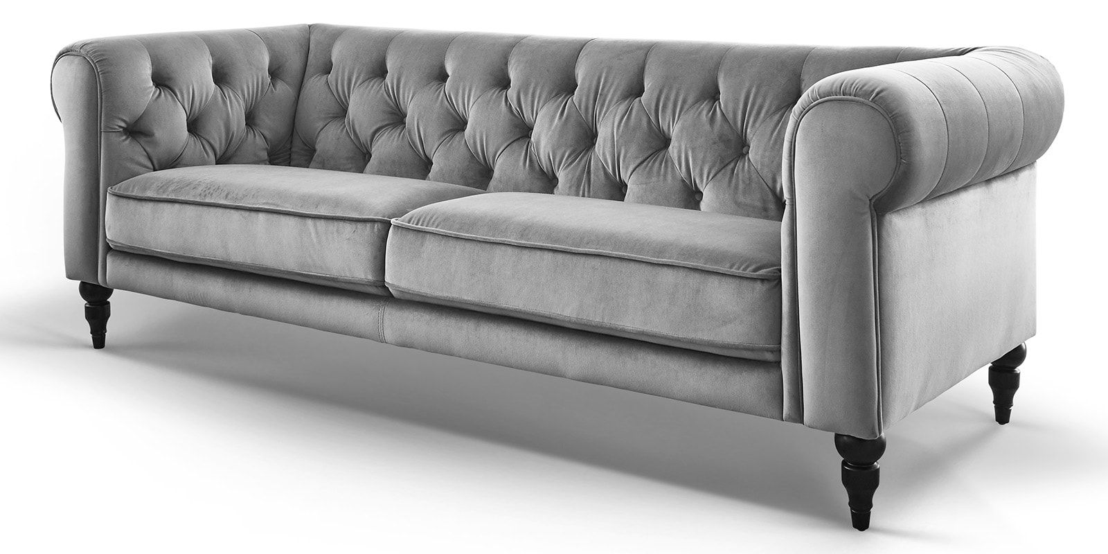Samt Couch 3-sitzer Chesterfield Samt Hudson - Comfort2home ...