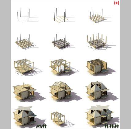 H P Architects Vivienda De Emergencia De Bambú En Hanoi