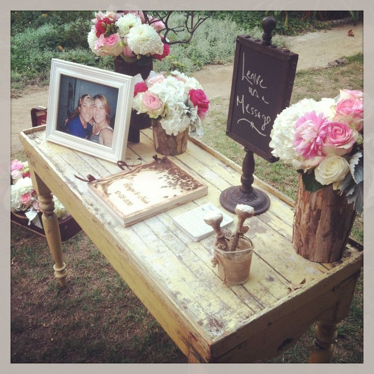 Cute Wedding Guest Book Ideas: Guest Book Table Set Up. #nozza