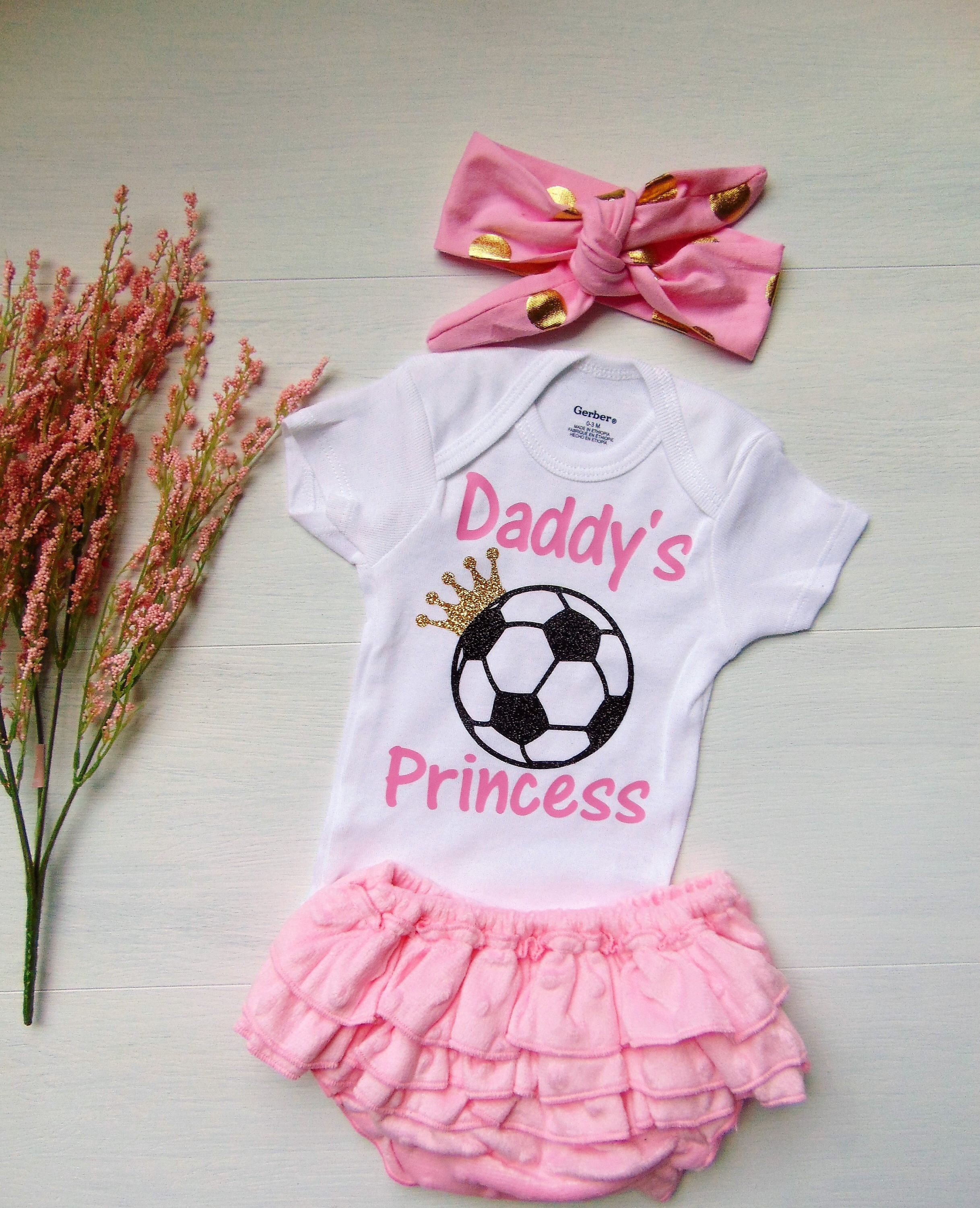 0372ca2f0c9a Soccer Girl Sports Outfit Infant Soccer Bodysuit Coming Home Soccer ...